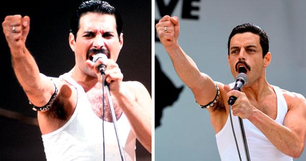 Rami Said Malek como Freddie Mercury Famosos que interpretaron a personajes
