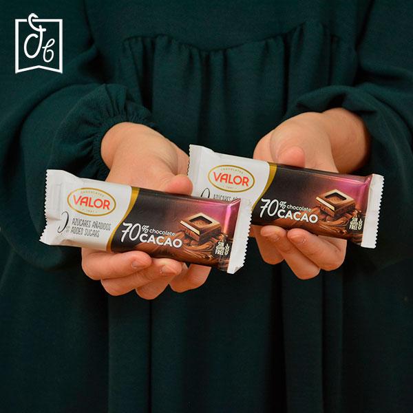 TAbleta Chocolate negro 70% Sin Azúcar Valor en DisfrutaBox HOLI