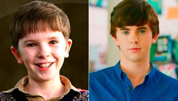 Freddie Highmore (Charlie Bucket) niños y niñas actores de adultos