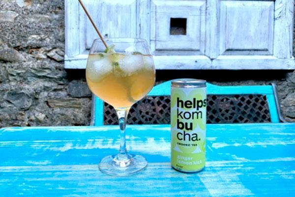Combinado de Helps Kombucha de limón y jengibre