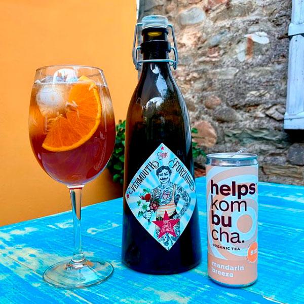 combinado de vermouth de Helps Kombucha