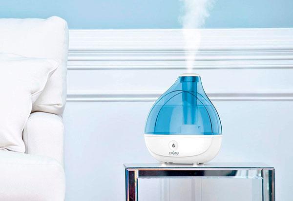 humidificador para mejorar la alergia estacional
