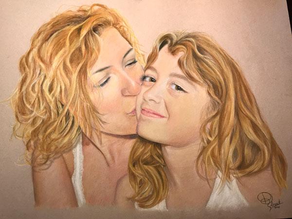 Retrato de madre e hija
