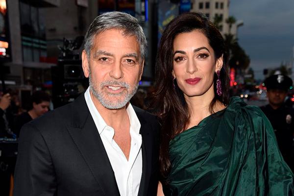 George Clooney y Amal Clooney famosos felizmente casados