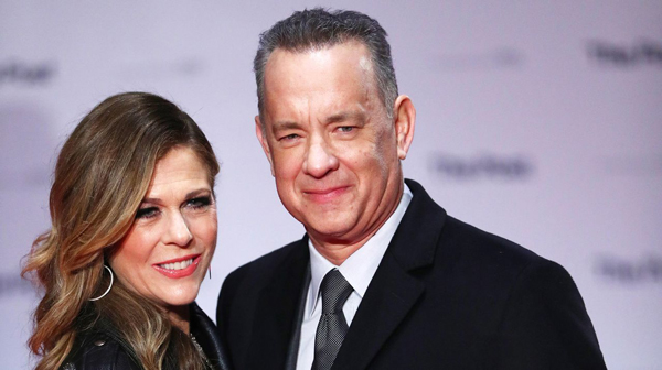 Tom Hanks y Rita Wilson famosos felizmente casados
