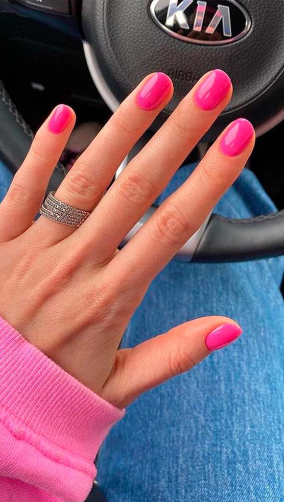Uñas fucsia Tendencias de uñas