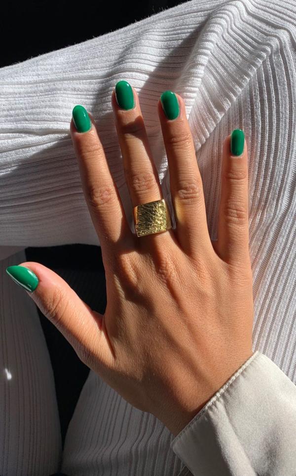 Uñas de color verde Tendencias de uñas