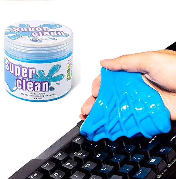 Gel para limpiar el teclado