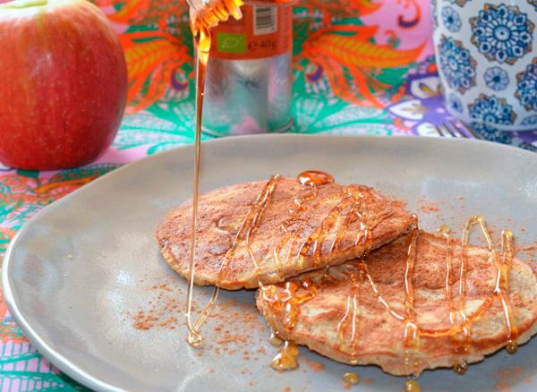 Tortitas con manzana Meriendas saludables