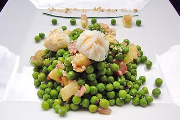 Ensalada de guisantes Ensaladas de verano con legumbres