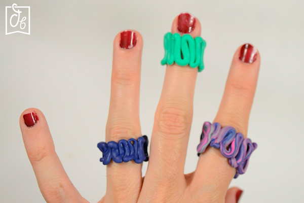 anilllos de cerámica Fimo cómo hace en bucle o zigzag