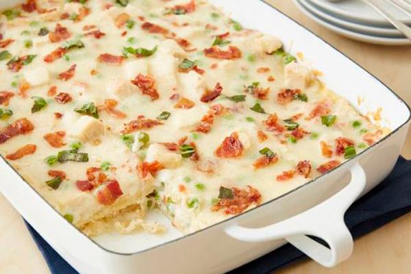 La receta italiana de lasaña a la carbonara