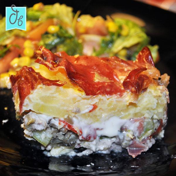 recetas de tortilla de patata: pastel de tortilla, carne y verduras